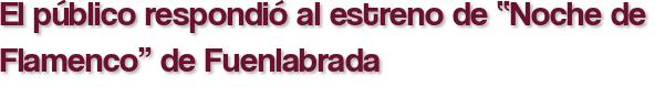 """El público respondió al estreno de """"Noche de Flamenco"""" de Fuenlabrada"""