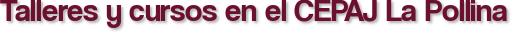 Talleres y cursos en el CEPAJ La Pollina