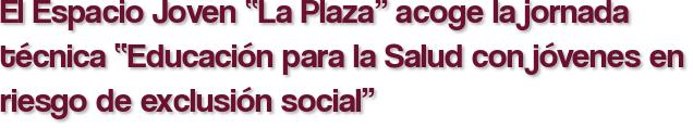 """El Espacio Joven """"La Plaza"""" acoge la jornada técnica """"Educación para la Salud con jóvenes en riesgo de exclusión social"""""""