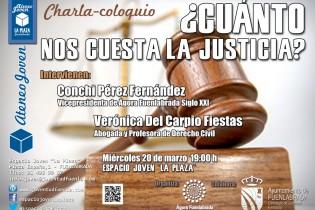 """Charla-coloquio: ¿Cuánto nos cuesta la Justicia?- Ateneo Joven en el Espacio Joven """"La Plaza"""""""
